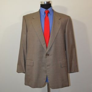 Hickey Freeman 44R Sport Coat Blazer Suit Jacket L